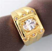 mens sapphire ring - Sapphire Jewelry Limited k Gold Plated Crystal Engagement Ring for Mens Created Diamond Rings Vintage Jewelry Bague Homme Bijoux Jx003