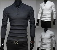Wholesale Fall and winter long sleeved sweater collar hedging business casual Sweaters Knitwear Slim Korean men white