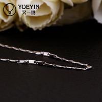 achat en gros de fournisseur de collier en argent-925 Collier en argent sterling pandent C018 Grossiste Chine fournisseur 18k or longue chaîne