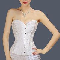 army corset dress - Royal corset wedding dress waist abdomen drawing bra body shaping underwear no shoulder tape slimming corset bodice beauty care