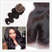 Wholesale 8A Brazilian Closure In Stock VirginHair Body Wave Closure Brazilian Hair b quot quot x4 free part middle part three part Closure