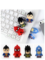 batman pendrive - The Avengers Spiderman Batman Green Lantern Superheroes USB flash drive pendrive pen drive gb gb U disk Keychains Keyring