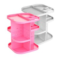 acrylic storage cabinet - Pink white Makeup case drawers Cosmetic Organizer Jewelry storage Acrylic cabinet Box