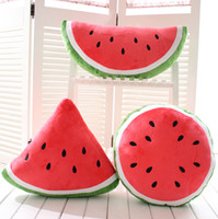 Wholesale Cool Watermelon Shape Cushion home decor Fruit Pillow decorative Emoji pillows sofa decoration Stuffed Plush Toy