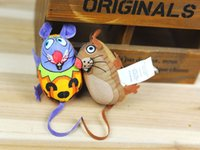 Wholesale 2016 new Cat Toys Mouse series blending colorful pet toys canvas Cat Supplies Cat Toys