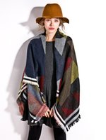 Wholesale 2015 Fashion Beautiful Multi Colored Tartan Plaid Blanket Scarf Large Thicken Warmth Shawl For Women Ladies Autumn Winter shawls