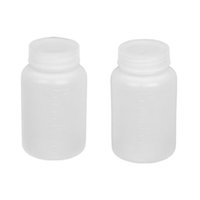 Wholesale 2 Laboratory Double Cap Leakproof Plastic Widemouth Bottle White mL IN STOCK order lt no track
