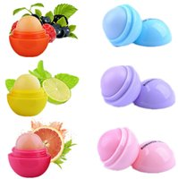 Wholesale New Makeup Colors Round Ball Moisturizing Lip Balm Natural Plant Sphere Lip Pomade Lip Balm Lipstick Fruit Embellish Lip Care