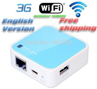 Wholesale TP Link TL WR703N Ultra Mini Portable G b Mbps WiFi Wireless Router TL MR3020 English Firmware Brand New