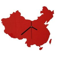 antique maps china - Mute wall clock random color map of China with limited modeling hot models Several Shippings