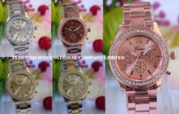 battery mix - Mix Colors Geneva Diamond Stainless SteelWrist watch Quartz Movement watch GW115