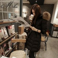 Wholesale Korean Shopping Europe station ladies winter clearance new Slim female models in long down jacket large size women