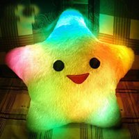 Wholesale LED Light Cushion Colorful Lucky Star Pillow LED Flashing Pillow Novelty Christmas Gift