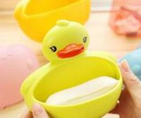 bathrooms small spaces - Small Space Big Role Soap Box Bathroom Accessories Multifunctional Storage Lovely Duck Soap Dish Soap Holder