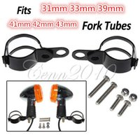 Wholesale New Universal Adjustble Turn Signal Relocation Fork Clamps mm mm mm mm