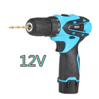 battery hammer drills - 12V Waterproof Hammer wireless electric drill Mini Hand Percussion Drill electric screwdriver tool Lithium battery