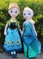 Wholesale 2015 New Frozen Fever Frozen cm Plush doll stuffed toy cartoon Anna Elsa snow princess Action Figures Gifts for children EMS Free