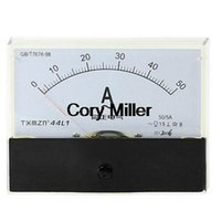 Digital Only AC 0-50A AC 0-50A Fine Tuning Dial Panel Rectangle Analog Ampere Meter Amperemeter order<$18no track