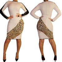 Wholesale Plus size cotton dress women bandage dress summer bodycon dress