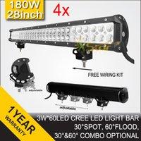 Wholesale 4 INCH W Cree LED Work Light Bar Spot Flood Combo V V For Truck Tractor Trailer ATV UTV X4 SUV SAVE ON