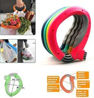 basket grocery - Home One Trip Grips Shopping Grocery Bag Holder Handle Carrier Lock Kitchen Tool Gift Baskets Dishes less effort Free DHL
