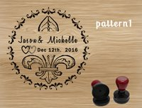 rubber stamps - custom wedding stamp save the date flash ink over impression