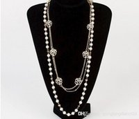 Wholesale Women s Fashion Pearl Floral Chain Bib Statement Long Necklace Wedding Jwellery