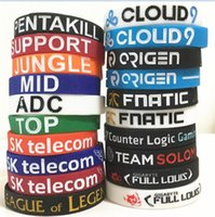 500pcs 20 designs LOL LOL bracelet GAMES Souvenirs Silicone Wristband League of legends Bracelets avec ADC, JUNGLE, MID, SUPPORT, TOP D599
