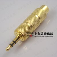 Wholesale Big to small guitar sockets faucets jacks audio connecting cables converter to adapters
