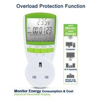 Wholesale UK Plug Electric Energy Saving Power Meter UK Meter Power Volts Consumption Monitor Analyzer