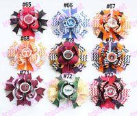 big hair bows - college team ribbon hair bows stacked hair bows NCAA girl big hair bow LSU QU KU hair bows