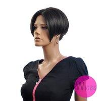 Wholesale Female Glamorous Charming fashion short black straight Kanekalon Fiber Synthetic women Wig Hair fashion lady Wig Hair H9325Z