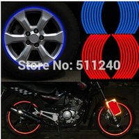 Wholesale Polyethylene Terephthalate Wheel Sticker Reflective Rim Stripe Tape Bike Motorcycle Car