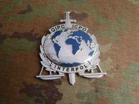 art experts - The United States badge metal badge badge INTERPOL International Criminal terrorism expert badge copper