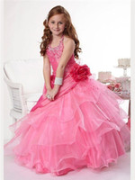 amazing birthday cake - Sell like hot cakes Amazing Halter And Beaded Bodice Organza Ball Gown Flower Girl Dress