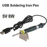 Wholesale USB Power Soldering Iron Pen V W Long Life Tip Touch Switch Soldering Tools Iron Pen for Welding Repair DLT1