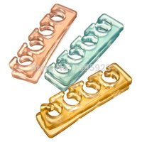 Wholesale Pairs Silicone Toe Separator Nail Art Manicure DIY Tools Colors Send By random