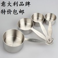 Wholesale Large capacity stainless steel spoon cup combination spoon family of four Top bakeware