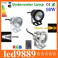 Wholesale 10W V LED Underwater Light RGB Warm White Cold White Waterproof IP68 Changeable fountain pool Lamp for Lawn decorating Light