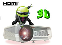 Wholesale 5500 Lumens W LED lamp Full HD projector D led lcd Multimedia home Projector FAST SHIPPING