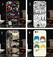 beatles apple logo - 4pcs The beatles band logo collection Hard Skin transparent stealth Case Cover for iPhone s s c