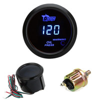 acrylic indicator - Auto Car Motor Universal Digital Oil Gauge Pressure Meter with Sensor mm in LCD Indicator PSI Warning Light Black order lt no track