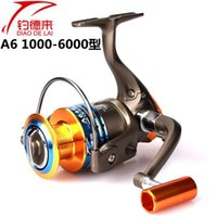 Wholesale Fishing up A6 axis full metal head fishing reel wheel spinning wheel Rockies pole sea rods fishing wheel