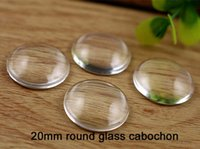 Wholesale 100pcs round clear glass tiles mm Glass Cabochon Transparent Clear Round Cameo Cover Cabs