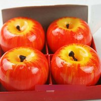 aromatherapy candle set - 4 SET Christmas Candle Lamp Red Apple Shape Fruit Scented Candle Home Decoration Greet Gift Brand New Paraffin Wax Candle L025