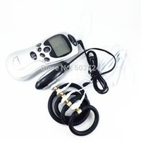 Wholesale 2 in Electro Sex Toys Kit Male Electro Penis Rings Anal Rings Vaginal Therapy Ring Electric Shock Massagers Sex Toys For Men
