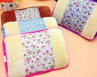 Wholesale Z0036 New Lovely Floral Charging Electric Hot Water Bags Double intervene small flower hot water bag x19cm