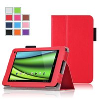 Wholesale For Toshiba AT7 C8 inch Tablet Case Soft TPU Stand Tablet Accessories Business Related Real Leather Low Price