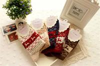 Wholesale Christmas Snowflake Deer Design Womens Wool Socks Warm Winter Cute Comfortable