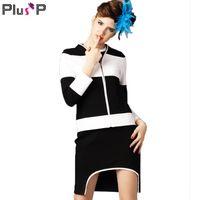 plus size womens clothing - Women Office Jacket Brand Plus Size Womens Clothing Xl Xl Long Sleeve Patchwork Woman Jacket Gorgeous Fashion New WP00522